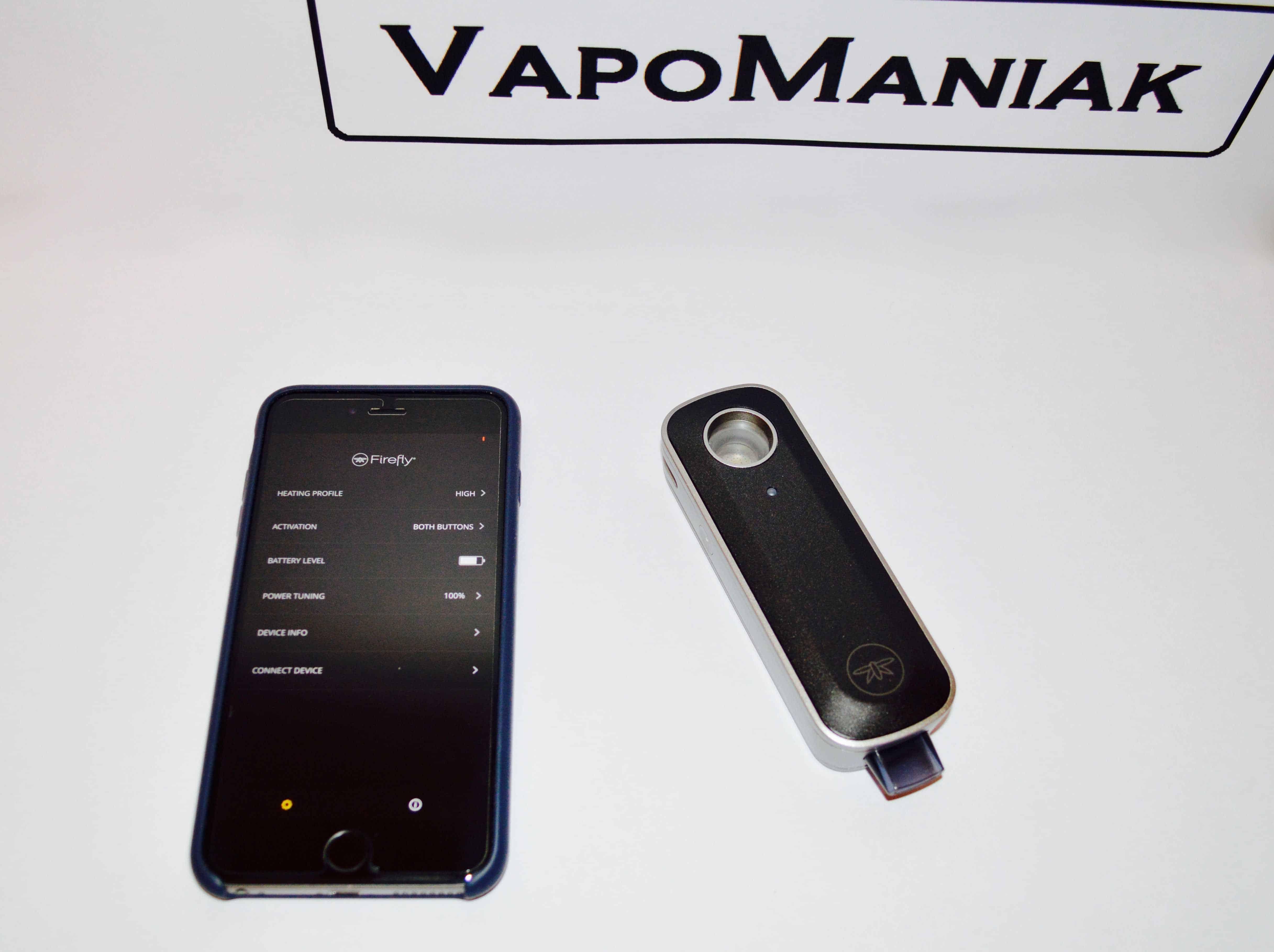Wszystkie funkcje Firefly 2 Vaporizer są dostępne jedynie z poziomu aplikacji.