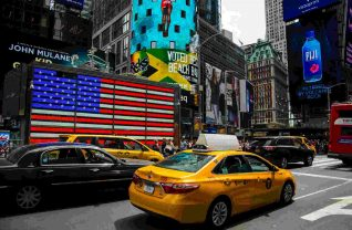 Taksówka na Time Square