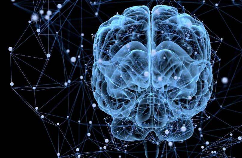 Grafika przedstawiająca połączenia nerwowe w mózgu
