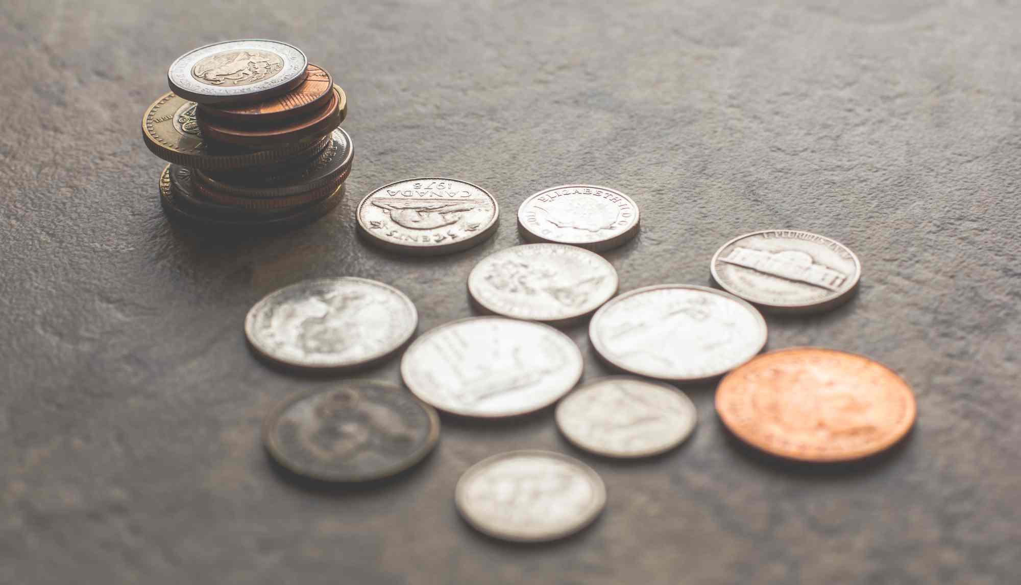 Srebrne i złote monety