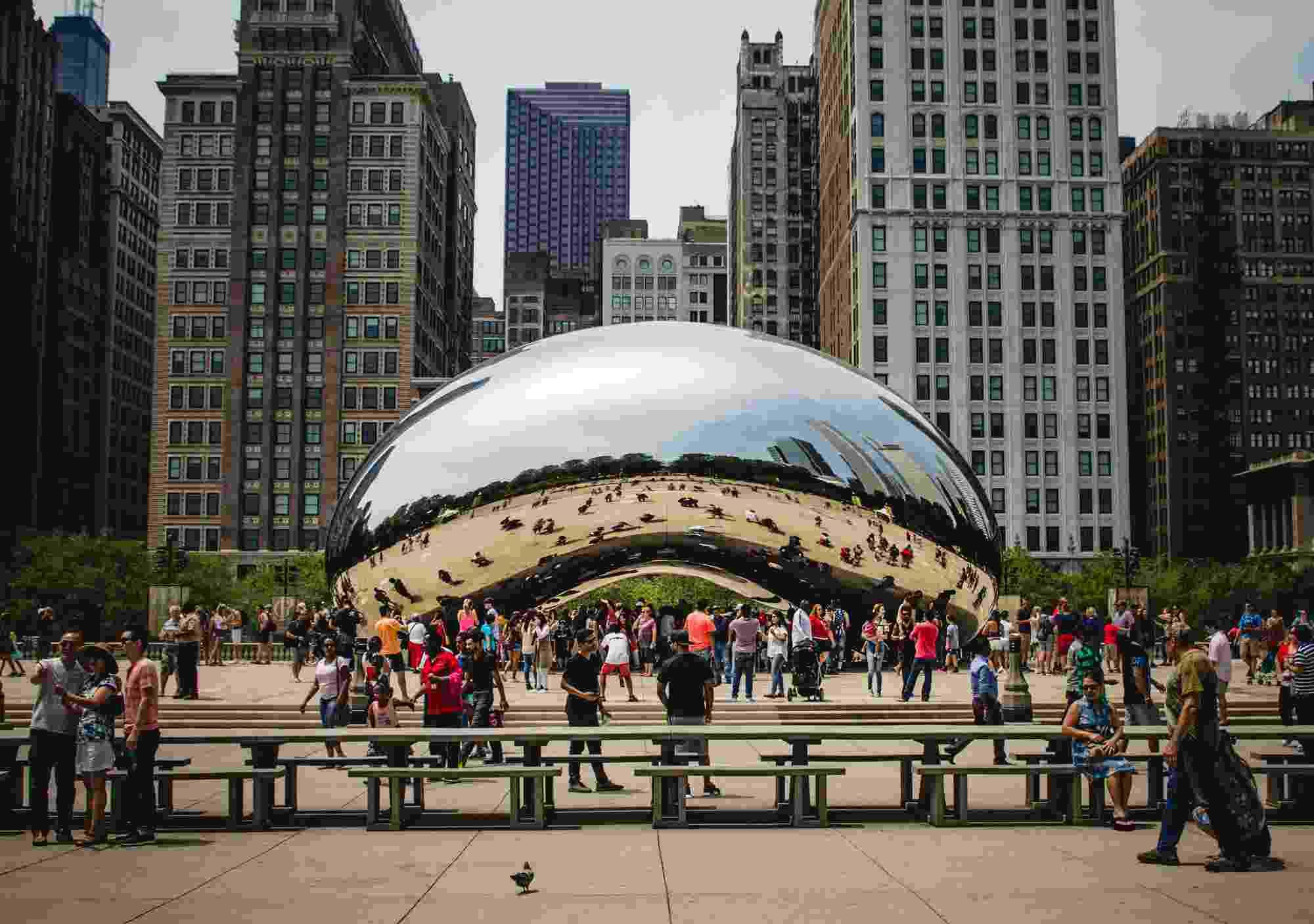 Cloud Gate w Chicago