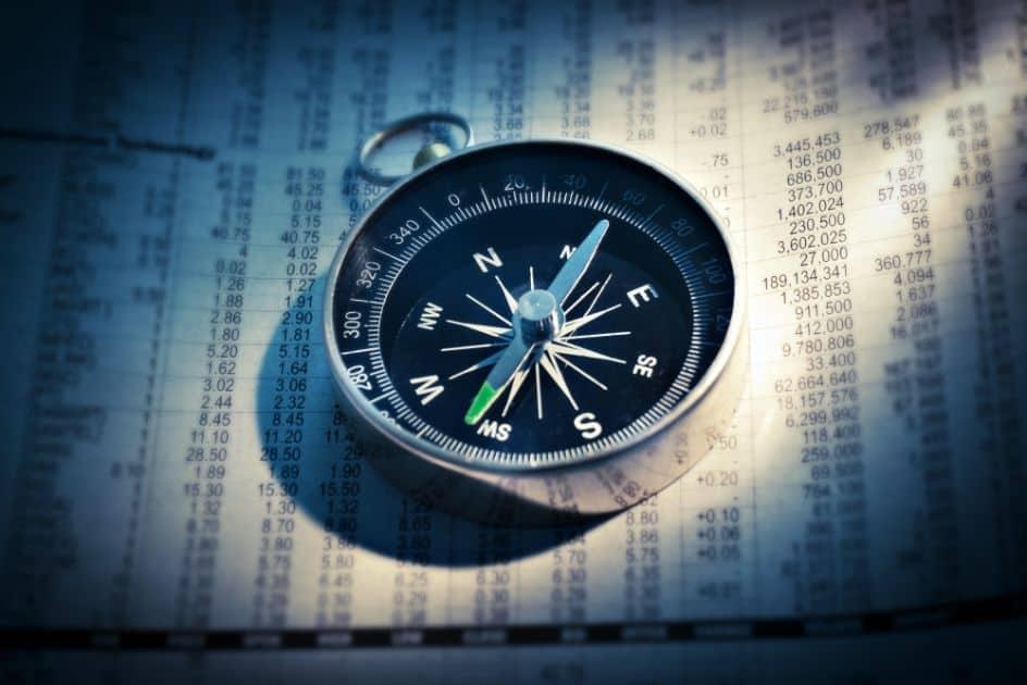 Kompas na gazecie