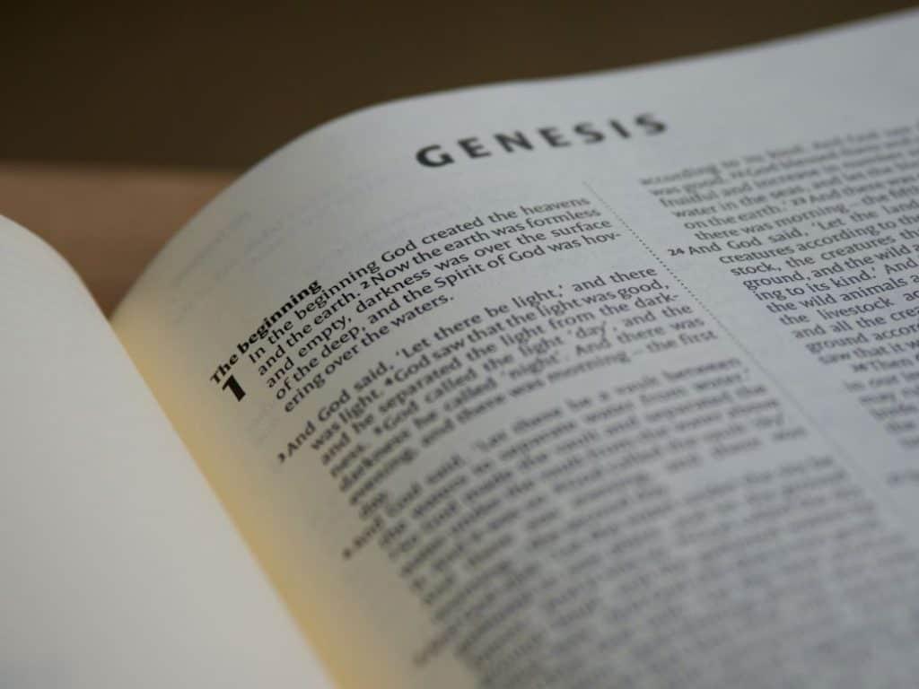 Zbliżenie na stronę Biblii