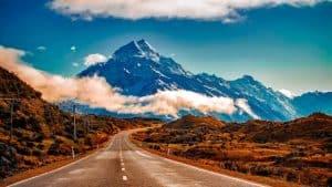 Droga w góry Nowej Zelandii