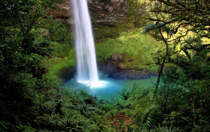 Wodospad w Nowej Zelandii