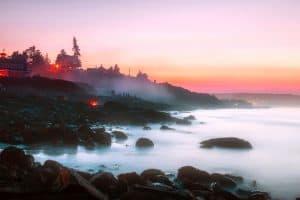 Zachód słońca w Ogunquit w Maine