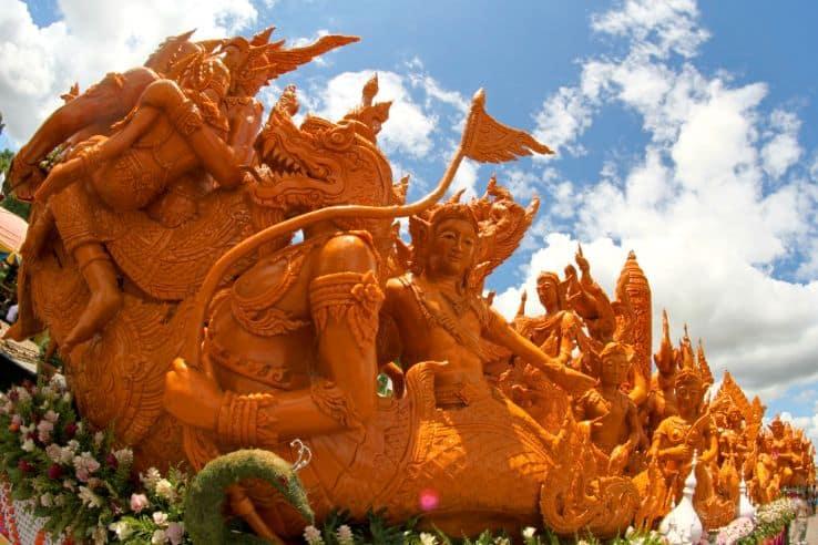 Posąg smoka w Tajlandii