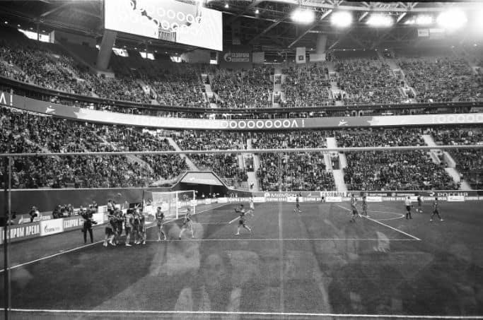 Sportowcy na stadionie