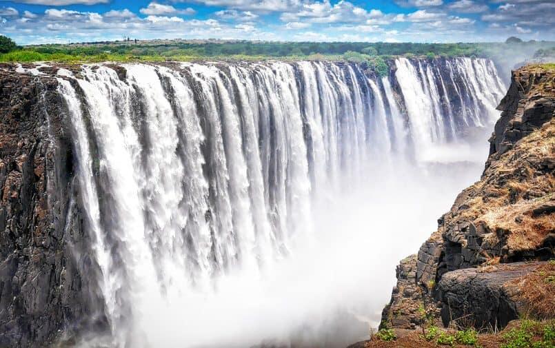 Wodospady w Zimbabwe