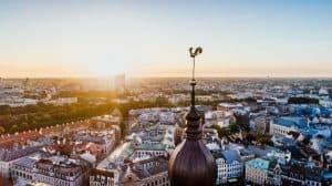 Widok na łotewskie miasto