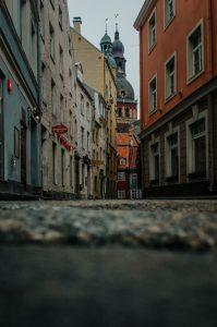 Łotwa stare uliczki