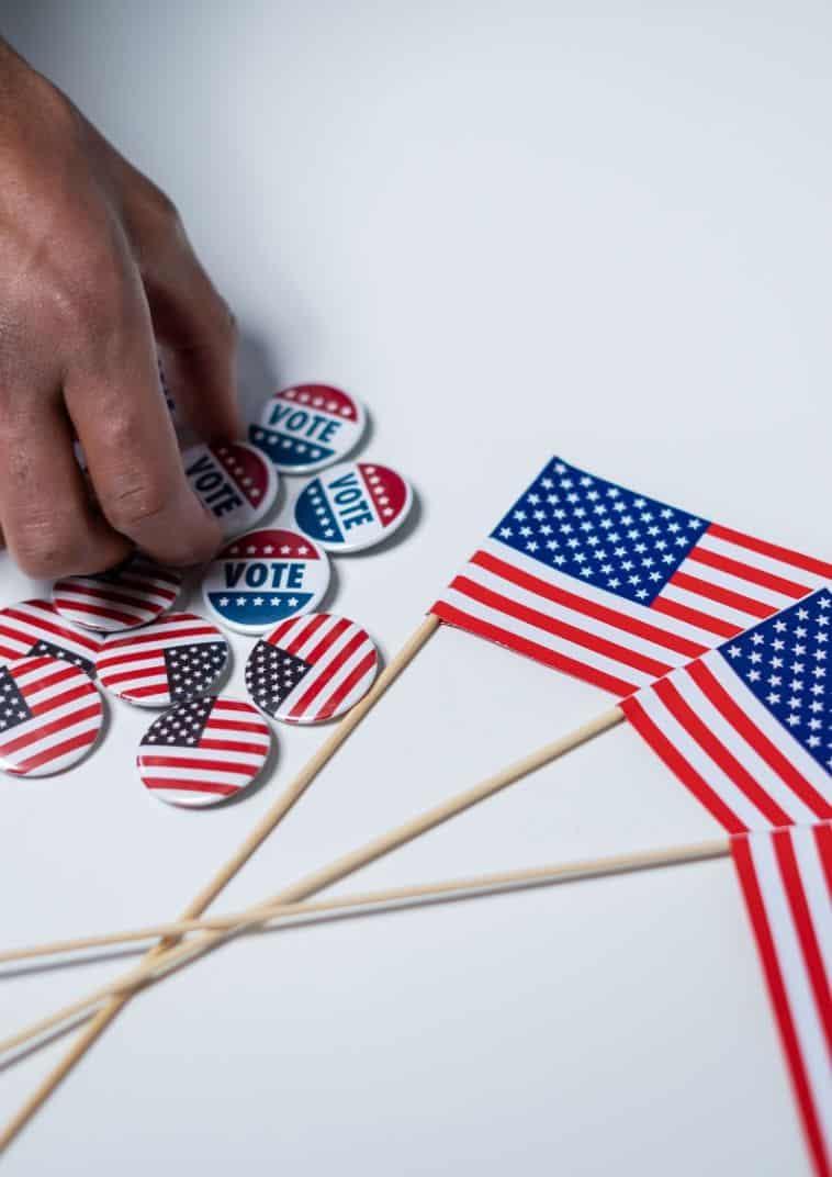 Chorągiewki z flagą USA
