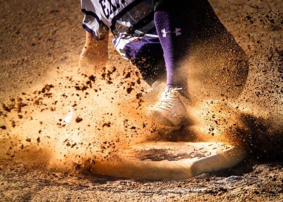 Baseballista w trakcie gry
