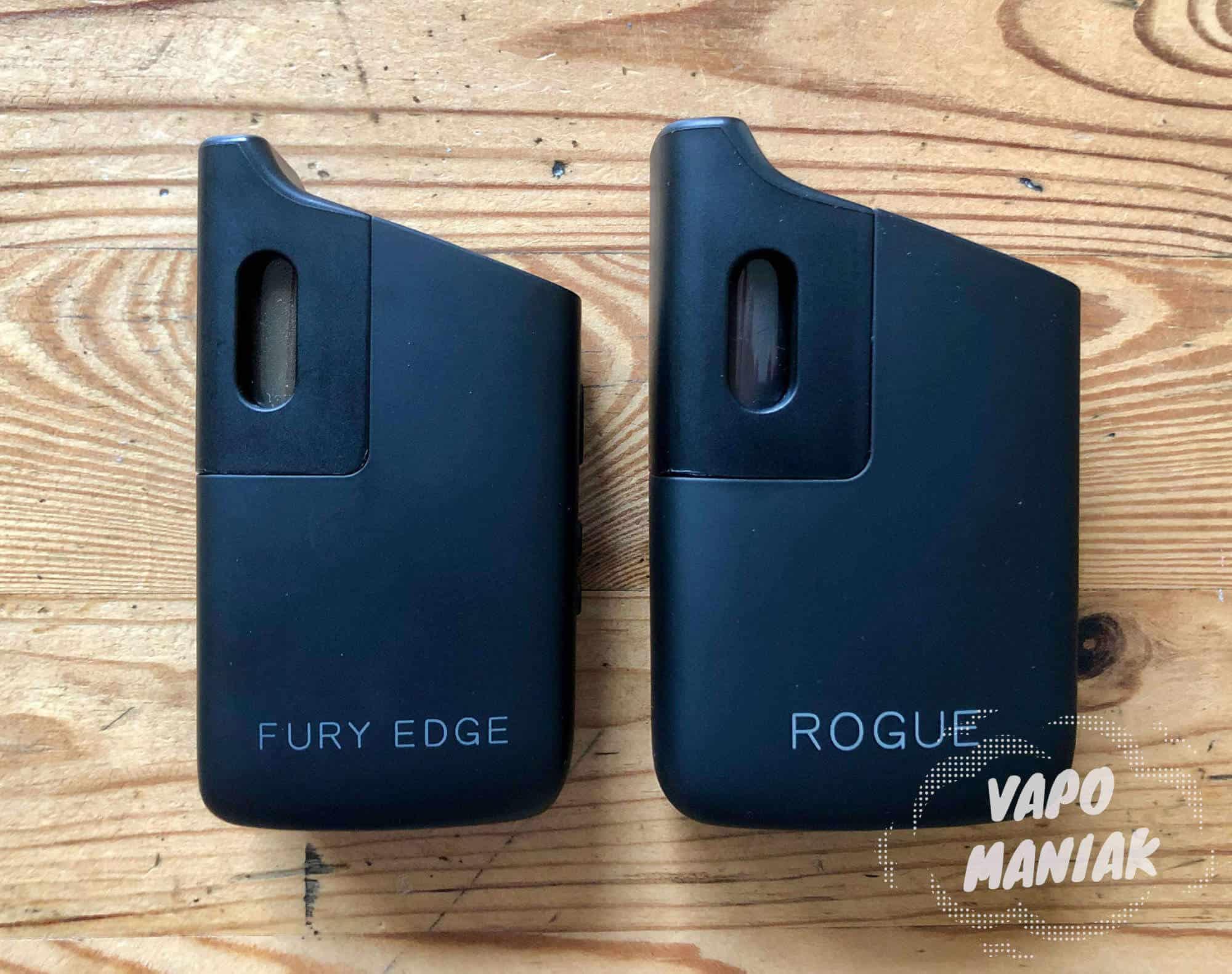 Porównanie wielkości FURY EDGE i ROGUE.
